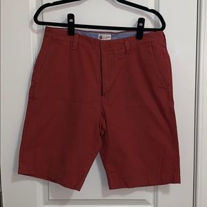 J Crew Red/Salmon Chino shorts